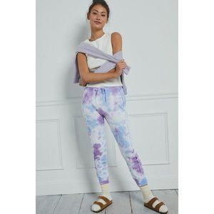 Free People Movement Work It Out Tie-Dye Joggers Small New